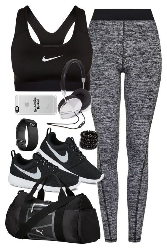"Outfit for the gym"" by ferned on Polyvore featuring Topshop, NIKE ."