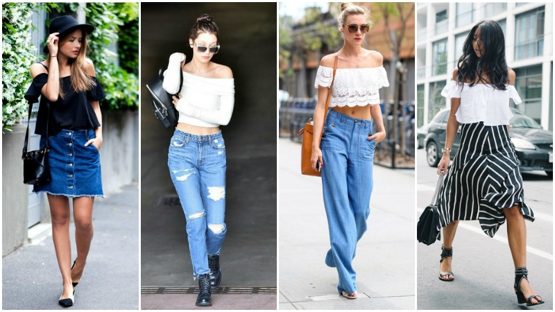 How to Wear Off The Shoulder Tops - The Trend Spott