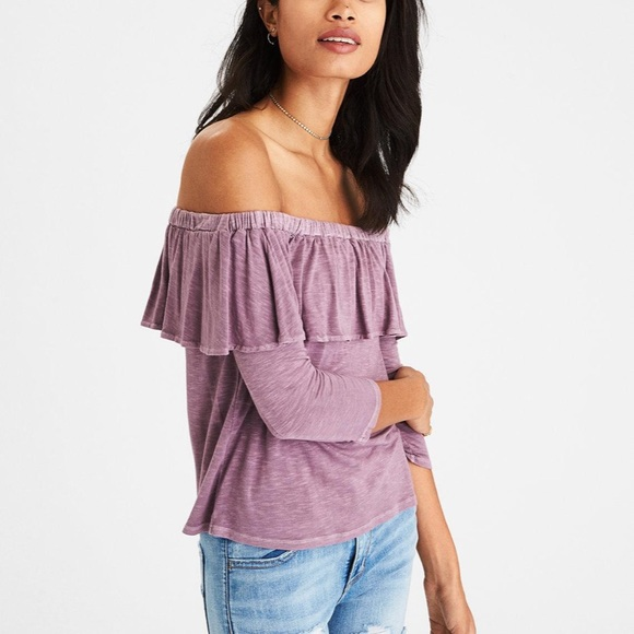 American Eagle Outfitters Tops | American Eagle Off The Shoulder .