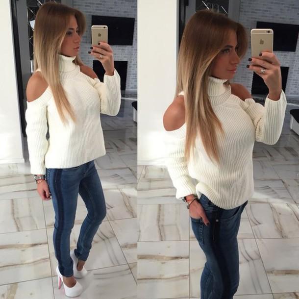 sweater, cute, sweatshirt, tumblr outfit, tumblr girl, tumblr .