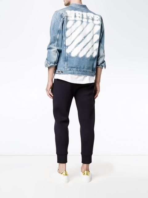 Spray Painted Denim Jacket by Off-White, $720 | Painted denim .
