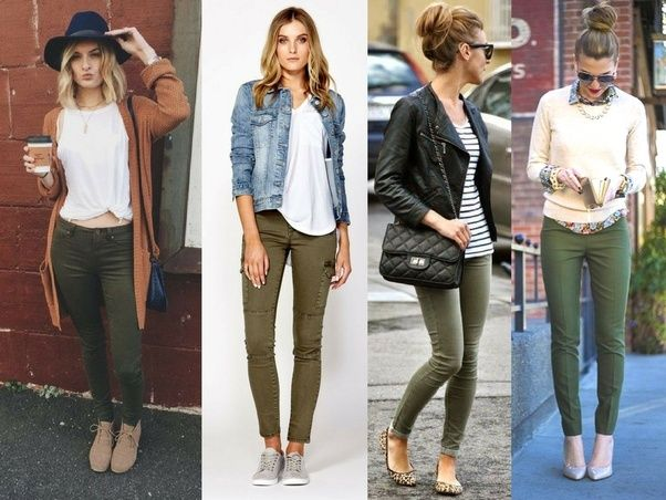 What colors look good with olive green pants? - Quora | Pantalones .