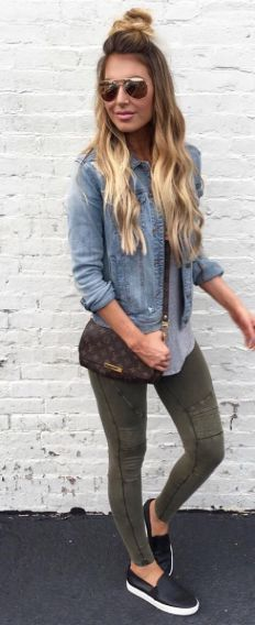 RENNegade Olive Green Leggings in 2020 | Casual summer outfits .