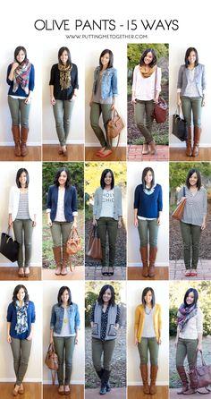 34 Best Olive Pants outfit images | Olive pants, Olive pants .