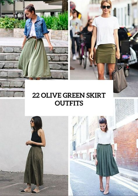 35 Trendy Olive Green Skirt Outfits Ideas to Try Tod