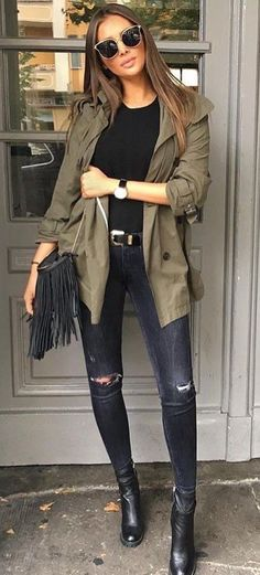126 Best Olive jacket Look images | Olive jacket, Fashion, Autumn .
