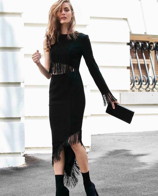 15 Gorgeous Black Flapper Dress Outfit Ideas - FMag.c
