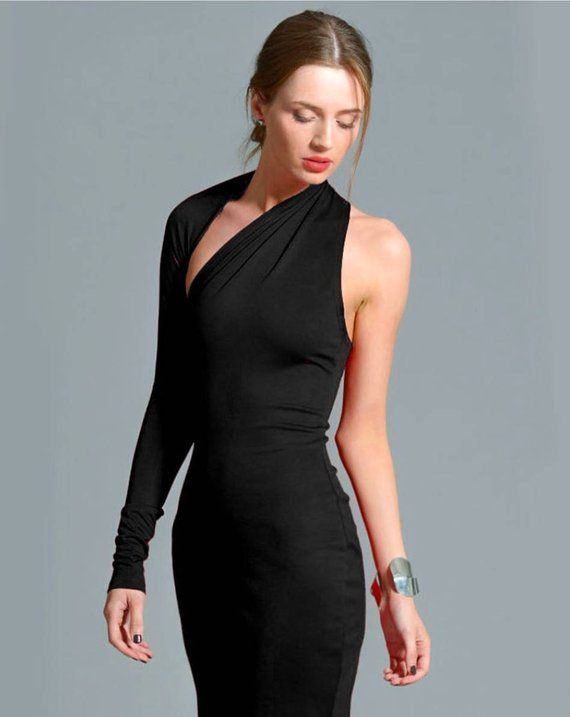 Little Black Dress, One Shoulder Dress, Black Dress, Prom Dress .