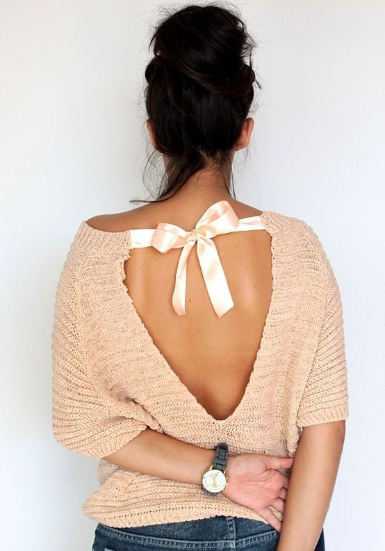 Daydream Open Back Sweater Design Ideas – Designers Outfits .
