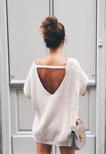 open back sweaters | cute clothes | Fashion, Autumn fashion, Dress