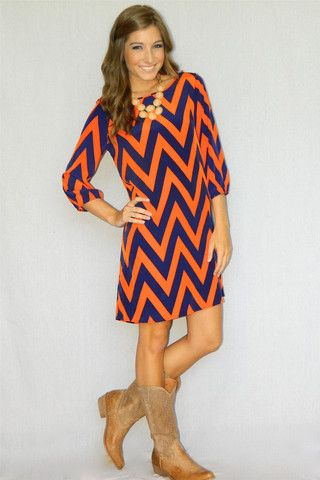 orange and blue dress - Dress