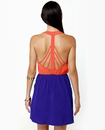Back Beauty Orange and Blue Gameday Dress | Gameday dress, Orange .