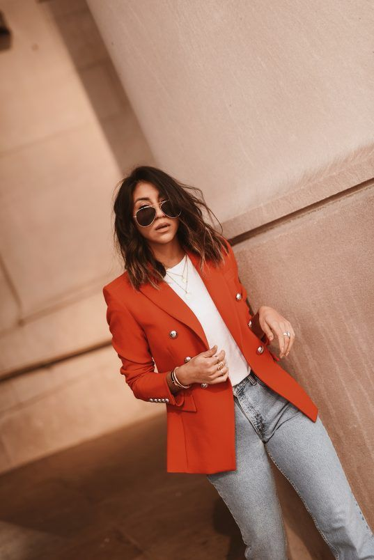 How To Wear A Bold Jacket | Blazer outfits for women, Bold jackets .