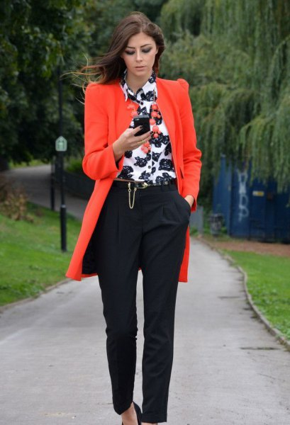 How to Wear Orange Jacket: 15 Cheerful Outfit Ideas for Ladies .
