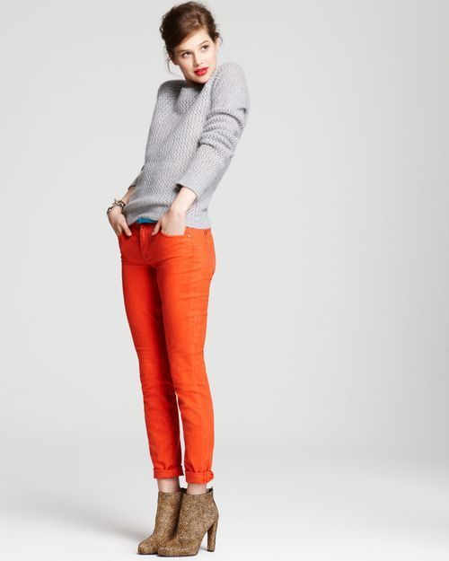 How To Wear Orange Trousers & Pants For Women (15) | Orange pants .