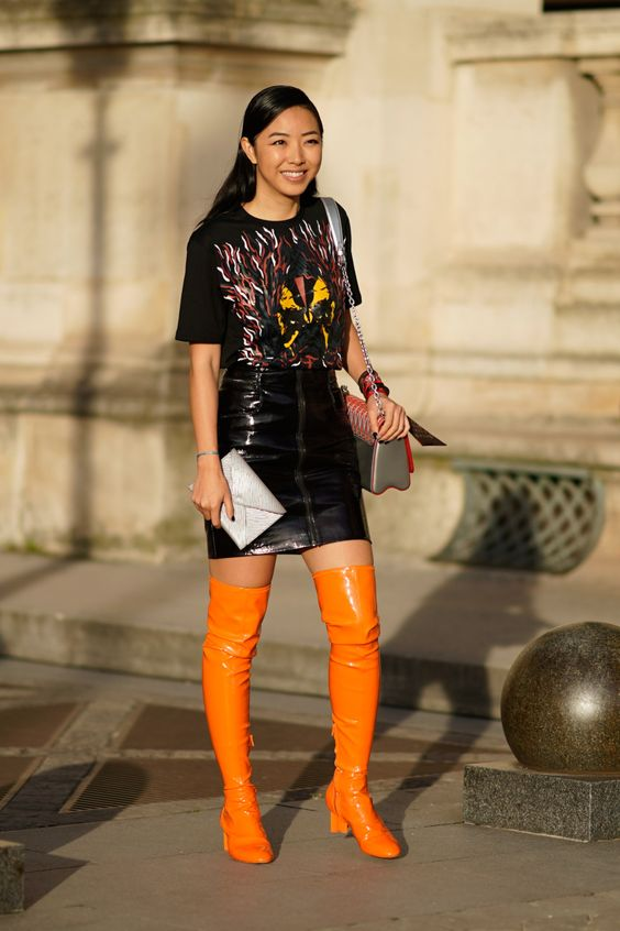 60+ Thigh High Boots Outfit Street Style Ideas 31 – Five