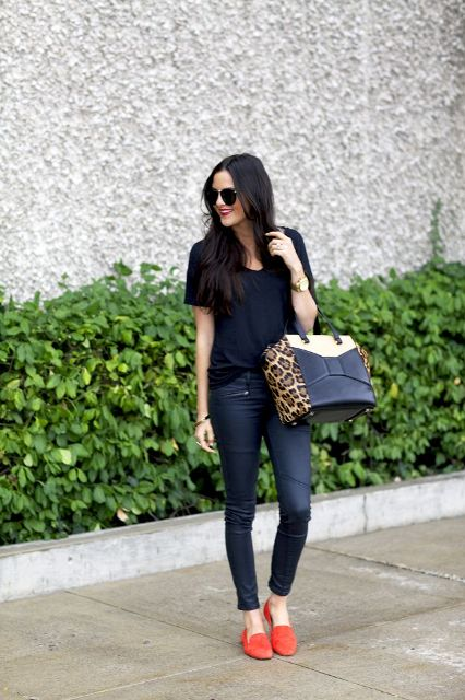 22 Excellent Spring Outfit Ideas With Orange Shoes - Styleohol