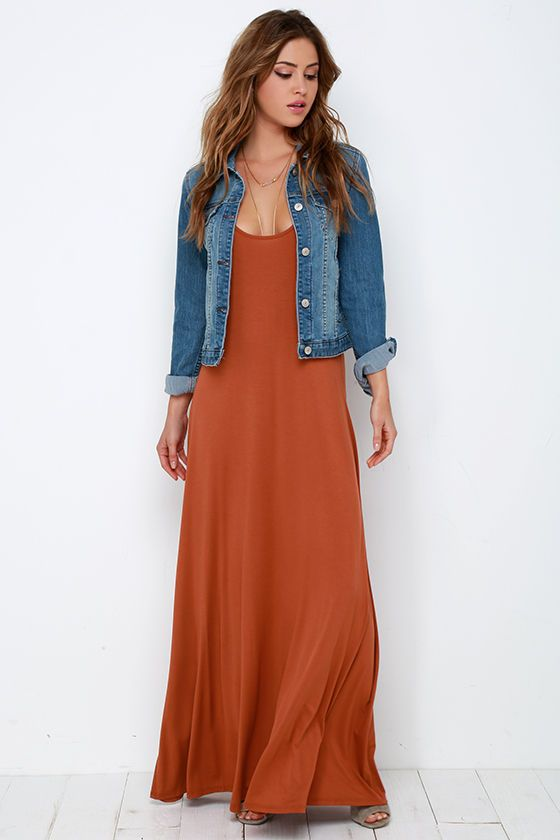 Sunset the Pace Rust Orange Maxi Dress | Orange dress outfits .