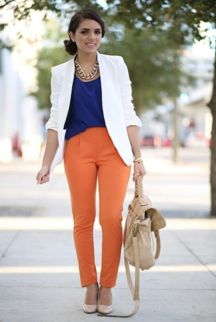 22 Orange Pants Outfits For Fashionistas - Styleohol