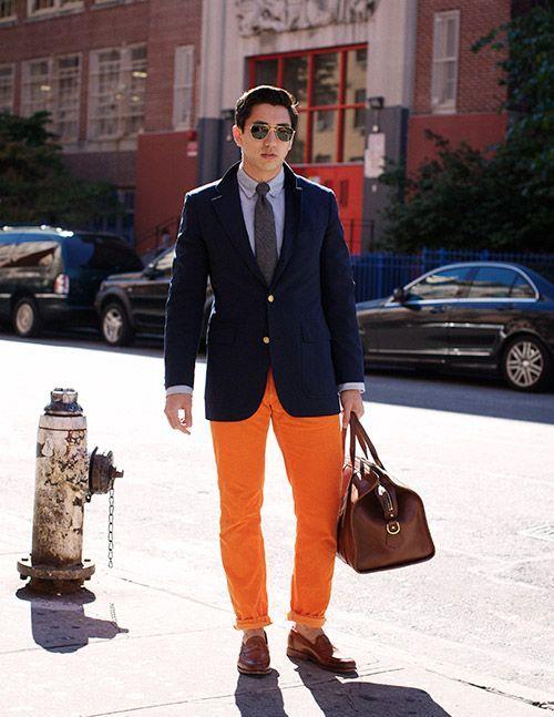 Men's Orange Pants Outfits-35 Best Ways to Wear Orange Pants .