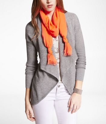 NEON OBLONG SCARF at Express in either the orange or pink .