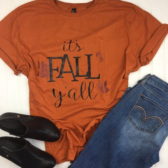 Fall TShirt, It's Fall Y'all shirt, autumn shirt, fall tshirt for .