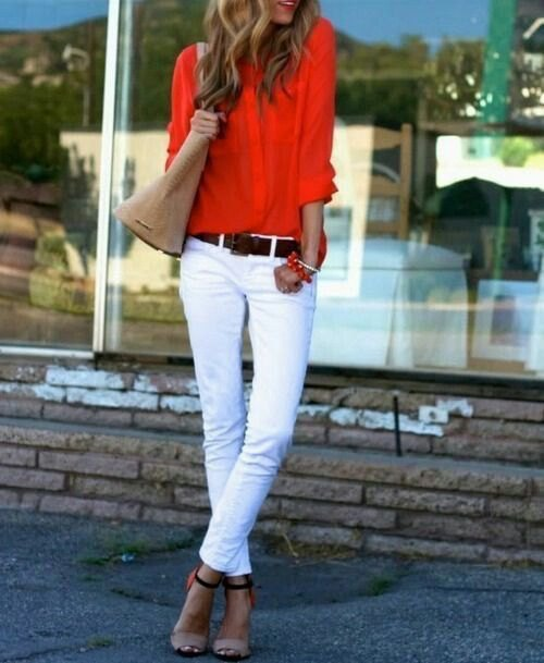 13 Cheerful Orange Shirt Outfit Ideas for Women - FMag.c