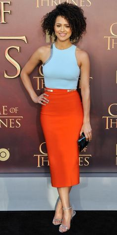 47 Best Orange Skirt images | Orange skirt, Outfits, Professional .