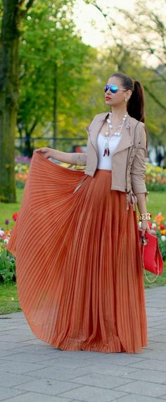 30 Best orange skirt outfit images | Orange skirt outfit, Fashion .