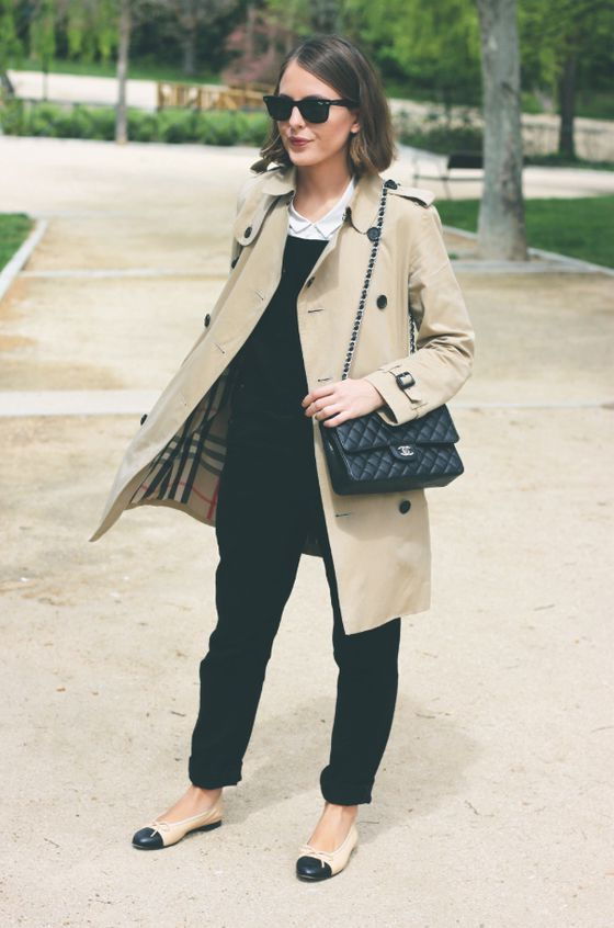 Flat Shoes Outfit Ideas For Fall | Flat shoes outfit, Ballet flats .