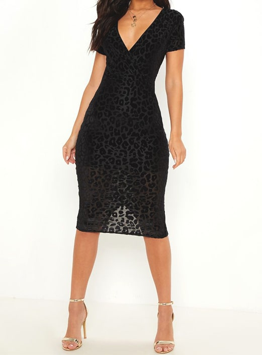 leopard-pattern-midi-sheer-black-dress-new-years-eve-outfit-ideas .