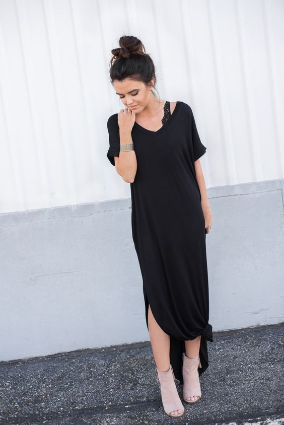 abigail t shirt maxi dress #ootd #casualoutfits *I'm obsessed.