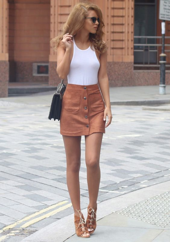 18 Ideas to Pair Your Mini Skirts - Pretty Desig