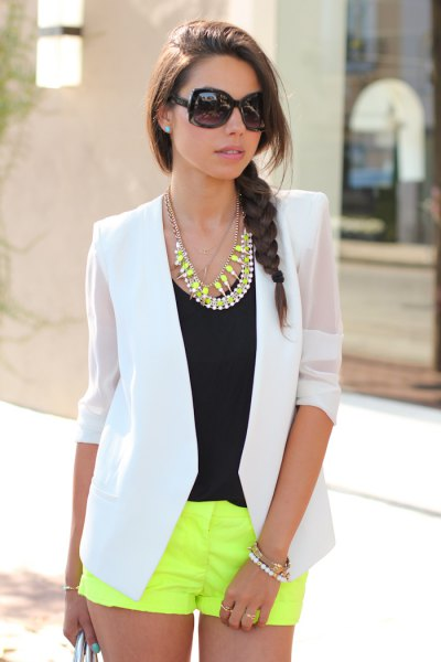 14 Best Outfit Ideas on How to Wear Chiffon Blazer - FMag.c