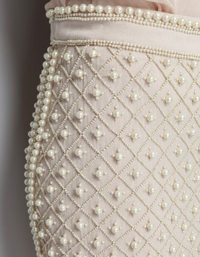 EMBROIDERED SKIRT WITH PEARLS - Skirts - Woman - ZARA United .
