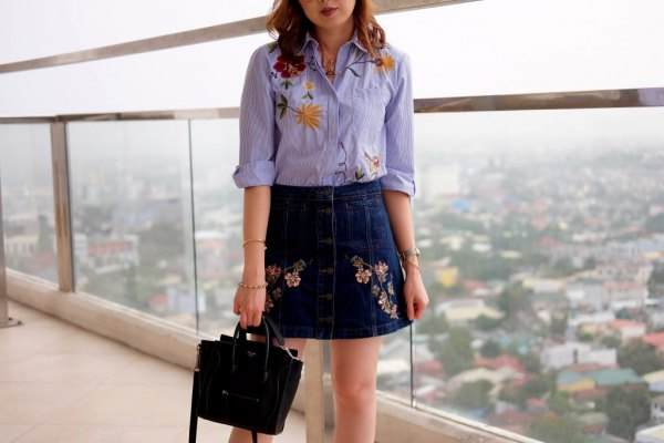 15 Best Outfit Ideas on How to Wear Embroidered Skirt - FMag.c