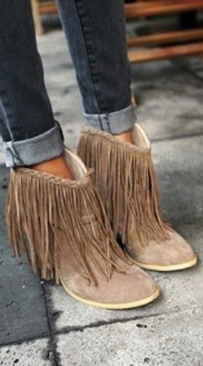 Stylist Tips: How to Wear Fringe | Fringe boots, Boots, Sty