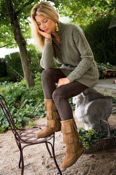 Indio Boots in 2020 | Autumn fashion, Clothes for women, Fringe .