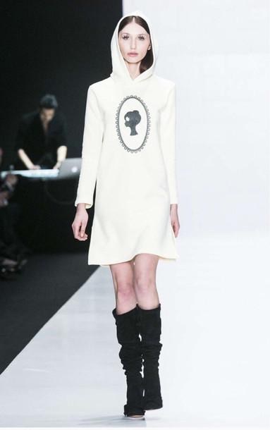 dress, clothes, outfit, white, print, boho dress, outfit idea .