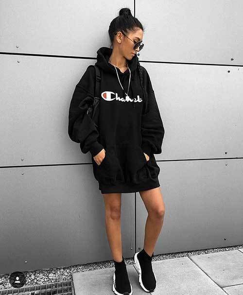 Big Hoodie Outfits for Both Dressy and Sporty Look - Outfit Styl