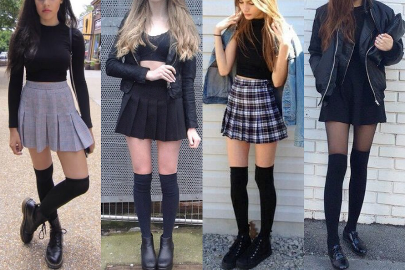 3 WAYS TO WEAR KNEE-HIGH SOCKS | High socks outfits, Long socks .