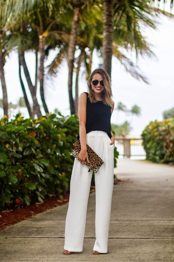 How to Wear White Wide Leg Pants – 10 Outfit Ideas with Wide Pants .