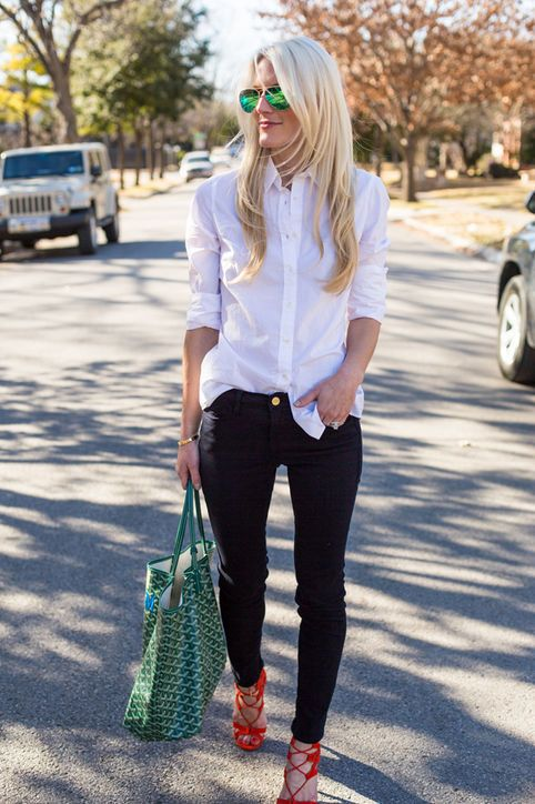 9 Foolproof Ways to Wear Your White Shirt | White shirt outfits .