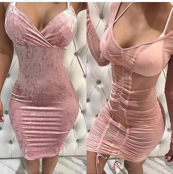 dress, summer dress, cute dress, short dress, party dress, pink .