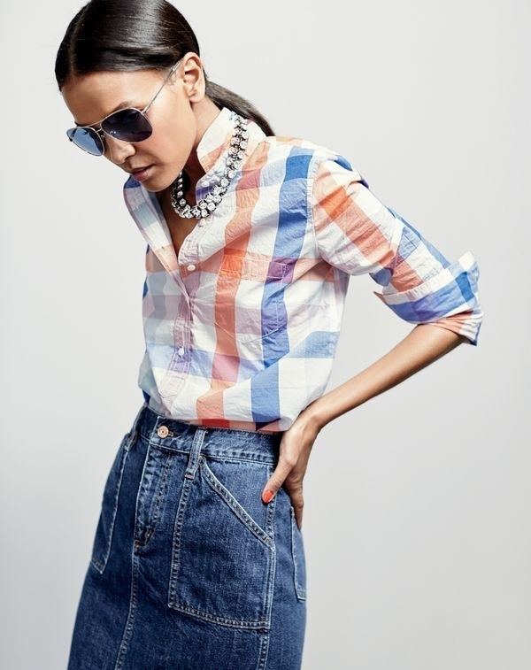 7 Outfit Ideas We Got From J.Crew's New Lookbook | Denim fashion .