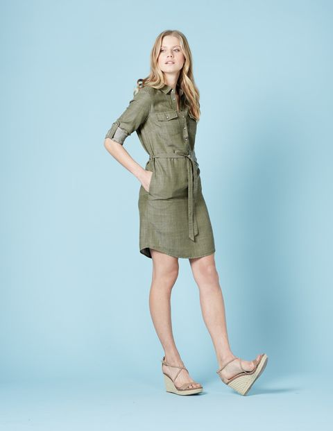 Popover Shirt Dress (Ticking Stripe) | Day dresses, Popover shirt .