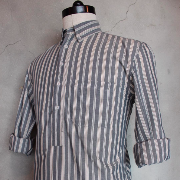 Hawkwood Mercantile Popover Shirt in striped cotton. | Outdoor .