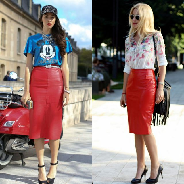 84 Leather Pencil Skirt Outfits That'll Make You Want A Leather Ski