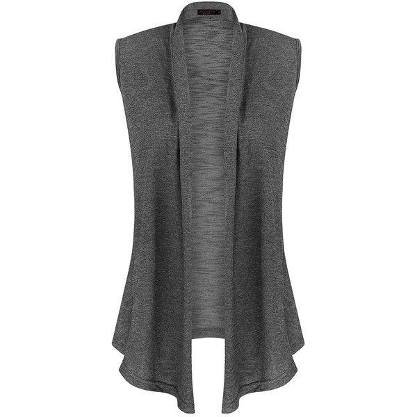 Vessos Women Vests Sleeveless Open Front Shawl Collar Shrug Jersey .