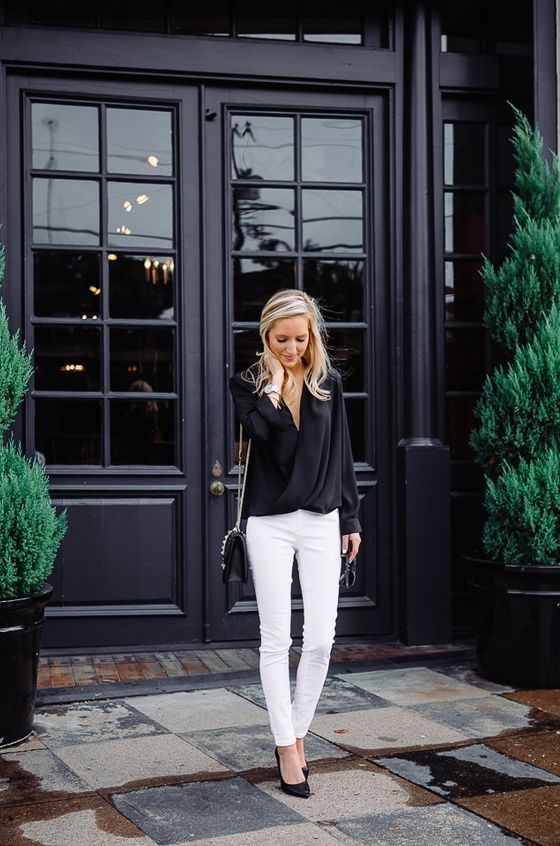 Blouses Designs And Outfit Ideas | Style, Black blouse, Fashi